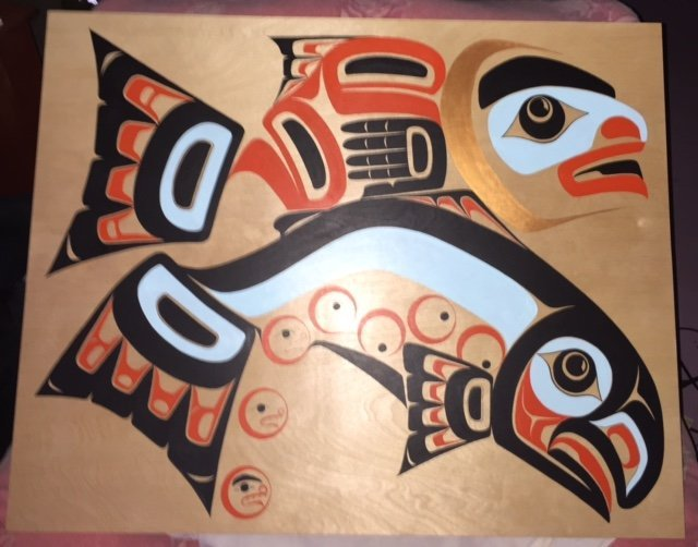 Tlingit Salmon Boy painting by Robert Davis Hoffmann